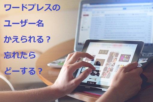 ワードプレスのユーザー名は変更できる?ユーザー登録法&忘れたらどうする?